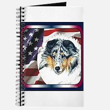 Merle Sheltie Flag Journal