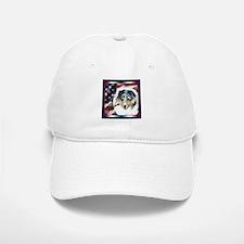 Merle Sheltie Flag Baseball Baseball Cap