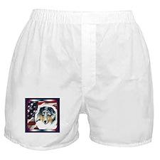 Merle Sheltie Flag Boxer Shorts