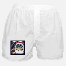 Merle Sheltie Flag Boxer Shorts