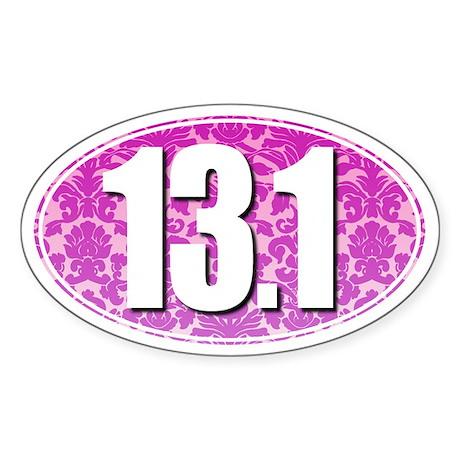 Fancy 13.1 Half Marathon Sticker (PINK)