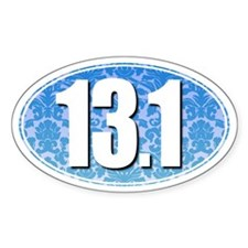 Fancy 13.1 Half Marathon Sticker (BLUE)