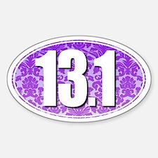Fancy 13.1 Half Marathon Sticker (PURPLE)