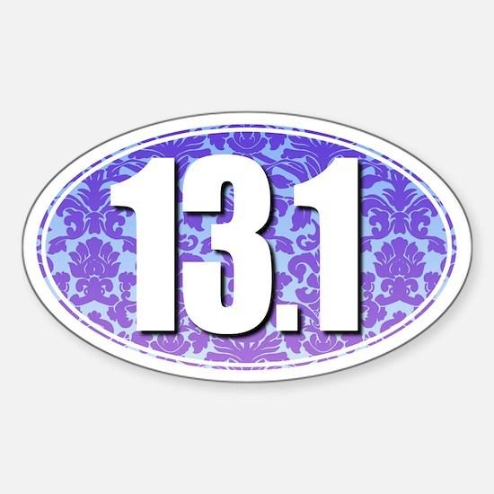 Fancy 13.1 Half Marathon Sticker (BLUE/PURPLE)
