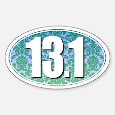 Fancy 13.1 Half Marathon Sticker (GREEN)
