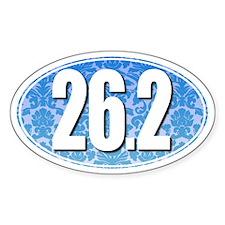 Fancy 26.2 Marathon Sticker (BLUE)