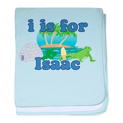 I is for Isaac baby blanket