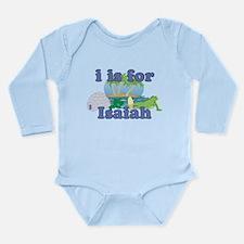 I is for Isaiah Long Sleeve Infant Bodysuit