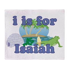 I is for Isaiah Throw Blanket