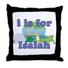 I is for Isaiah Throw Pillow