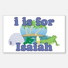 I is for Isaiah Sticker (Rectangle)