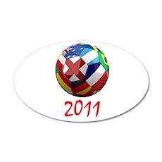 World Soccer 2011 22x14 Oval Wall Peel