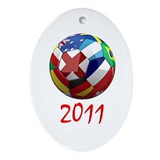 World Soccer 2011 Ornament (Oval)