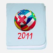 World Soccer 2011 baby blanket