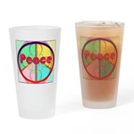 Abstract Peace Sign Drinking Glass