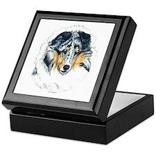 Blue Merle Shetland Sheepdog Keepsake Box