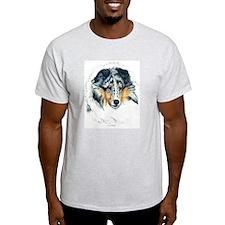 Blue Merle Shetland Sheepdog Ash Grey T-Shirt
