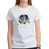 Blue merle shelties Women's T-Shirt