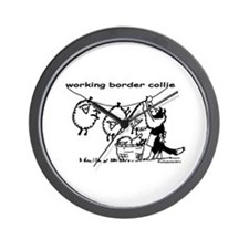 Working Border Collie Wall Clock