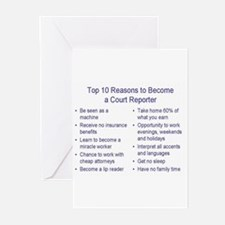 Cute Reporter Greeting Cards (Pk of 10)