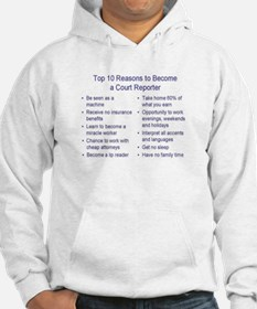 Funny Reporter Hoodie