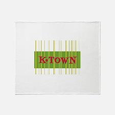 Green Retro K-Town Knoxville Throw Blanket