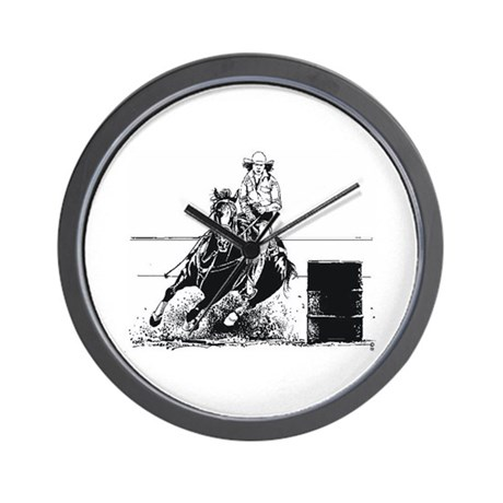Rodeo Cowgirl Wall Clock