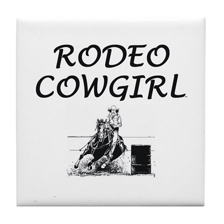 Rodeo Cowgirl Tile Coaster