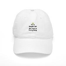 Simple Girl Baseball Baseball Cap