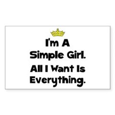 Simple Girl Decal