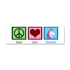 Peace Love Unicorns Car Magnet 10 x 3