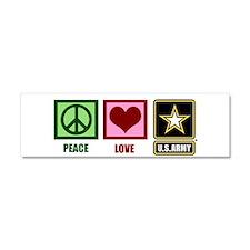Peace Love Army Car Magnet 10 x 3