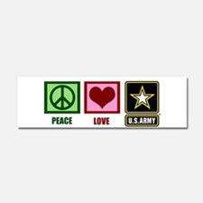 Peace Love Army Car Magnet 10 x 3