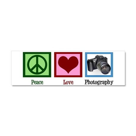 Peace Love Photography Car Magnet 10 x 3