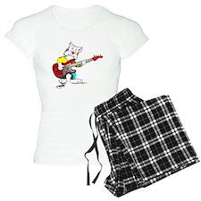 Bass Guitar Cat Apparel Pajamas
