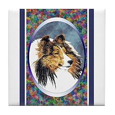 Shetland Sheepdog Designer Tile Coaster