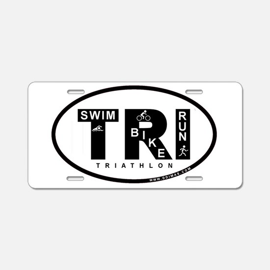 Triathlon Aluminum License Plate