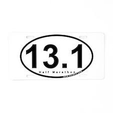 Half Marathon 13.1 miles Aluminum License Plate
