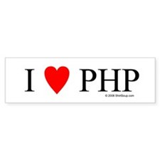 "I ""Heart"" PHP Bumper Sticker"