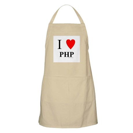 "I ""Heart"" PHP Apron"