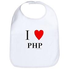"I ""Heart"" PHP Bib"