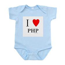 """I """"Heart"""" PHP Infant Bodysuit"""