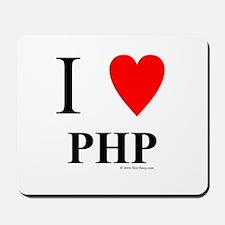 """I """"Heart"""" PHP Mousepad"""