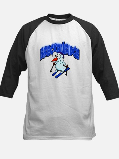 Breckenridge Snowman Kids Baseball Jersey