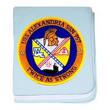USS ALEXANDRIA baby blanket