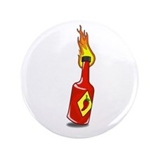 "Cartoon Hot Sauce 3.5"" Button"