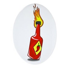 Cartoon Hot Sauce Ornament (Oval)