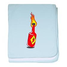 Cartoon Hot Sauce baby blanket