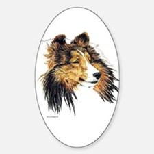 Shetland Sheepdog Sheltie Oval Decal