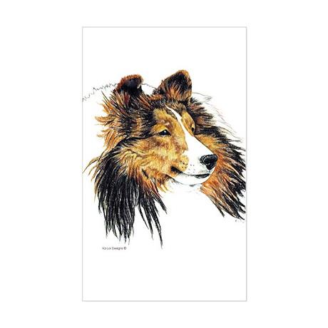 Shetland Sheepdog Sheltie Rectangle Sticker